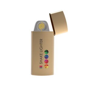Shake Lighter Print in full color Gold with full color print
