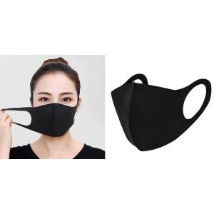 Fekete arcmaszk softshell anyagból