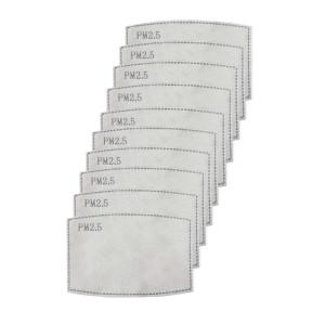 Szűrőbetét - aktívszén filter, szűrőlap maszkhoz (10db/csomag)